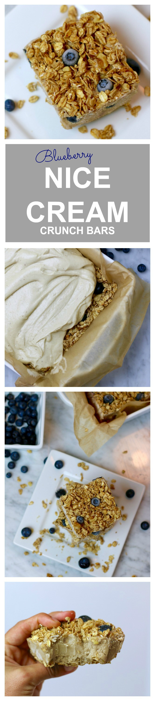 Nice Cream Blueberry Crunch Bars