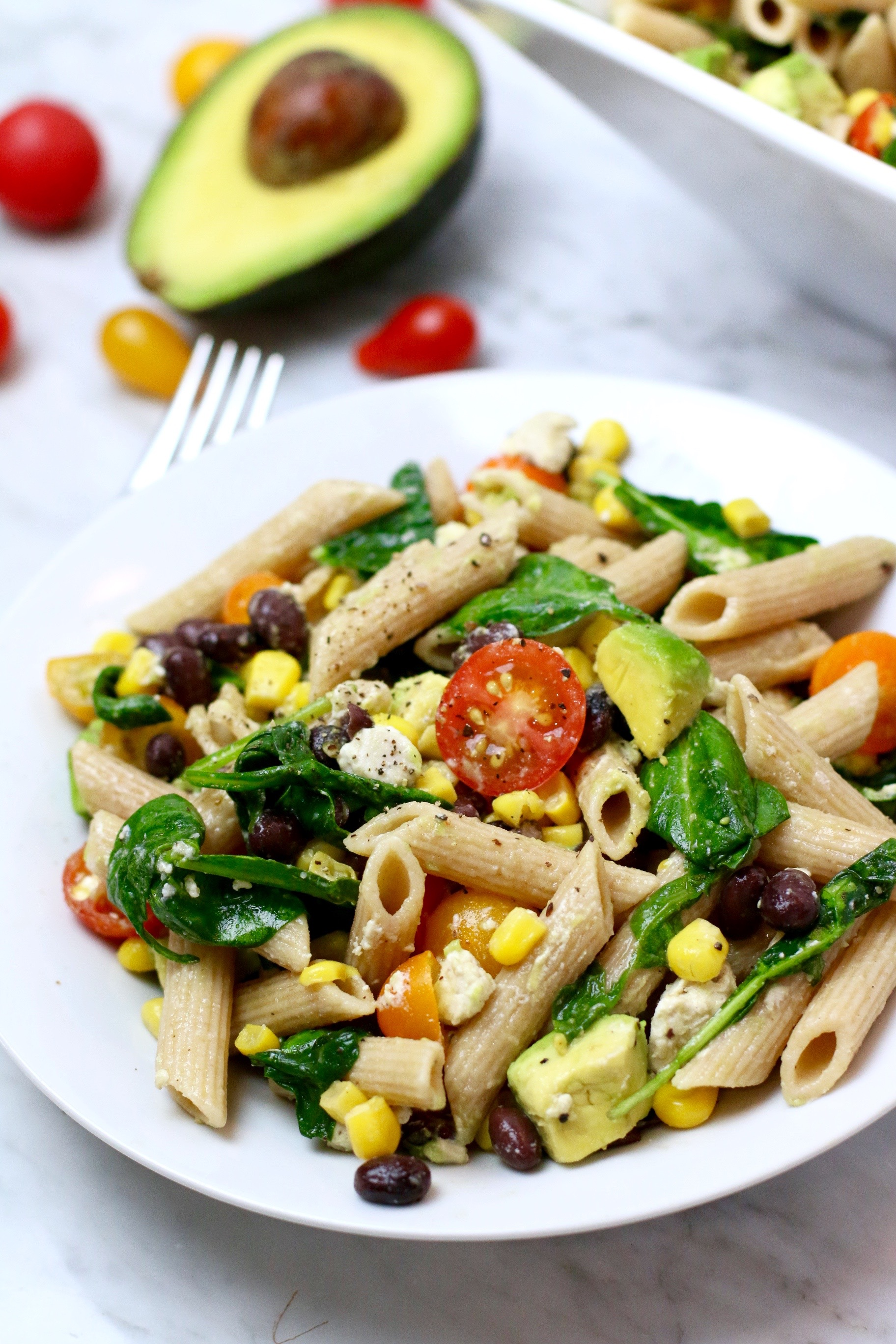 Healthy Summer Corn Pasta Salad