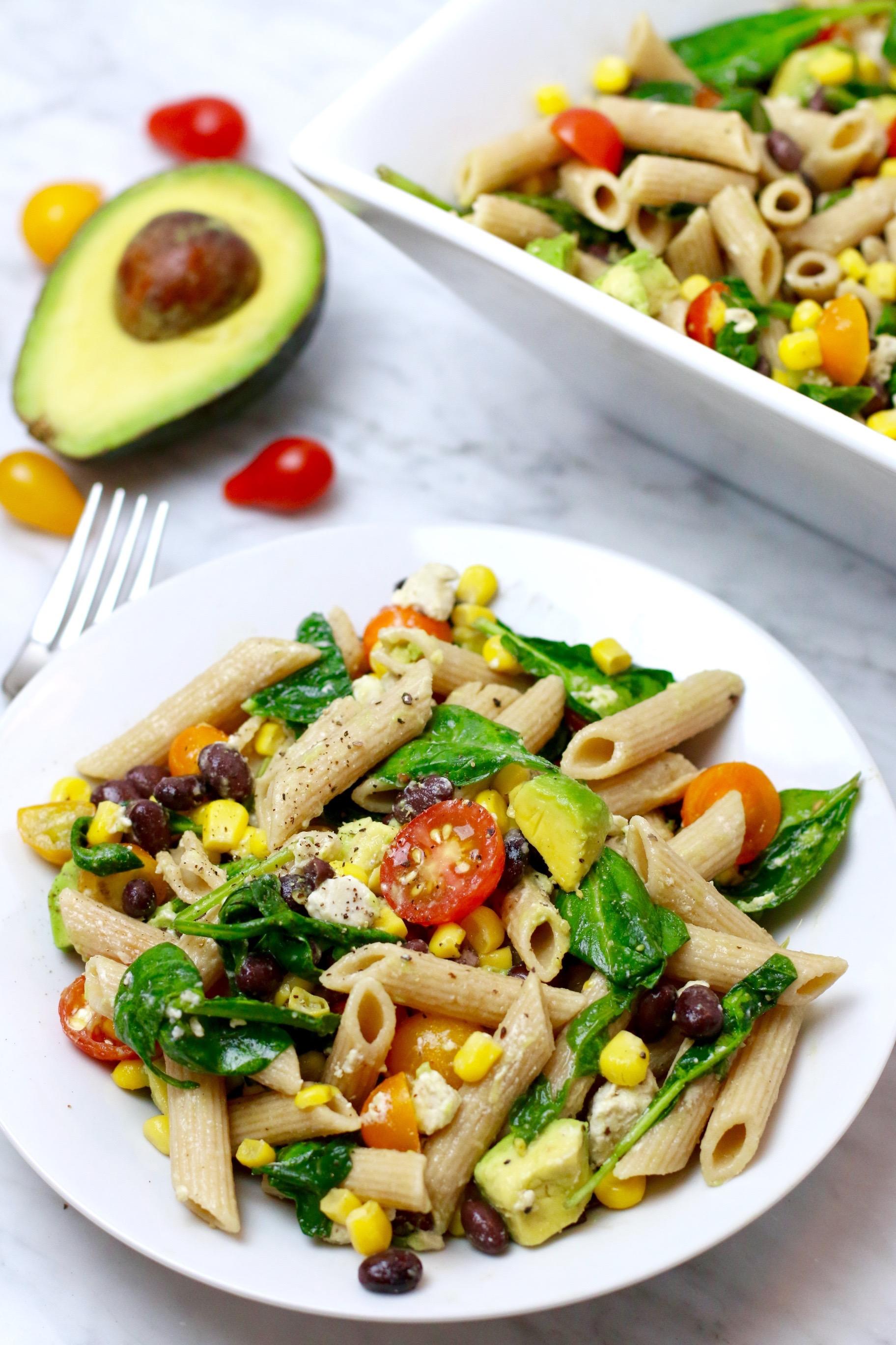 Healthy Vegan Summer Corn Pasta Salad