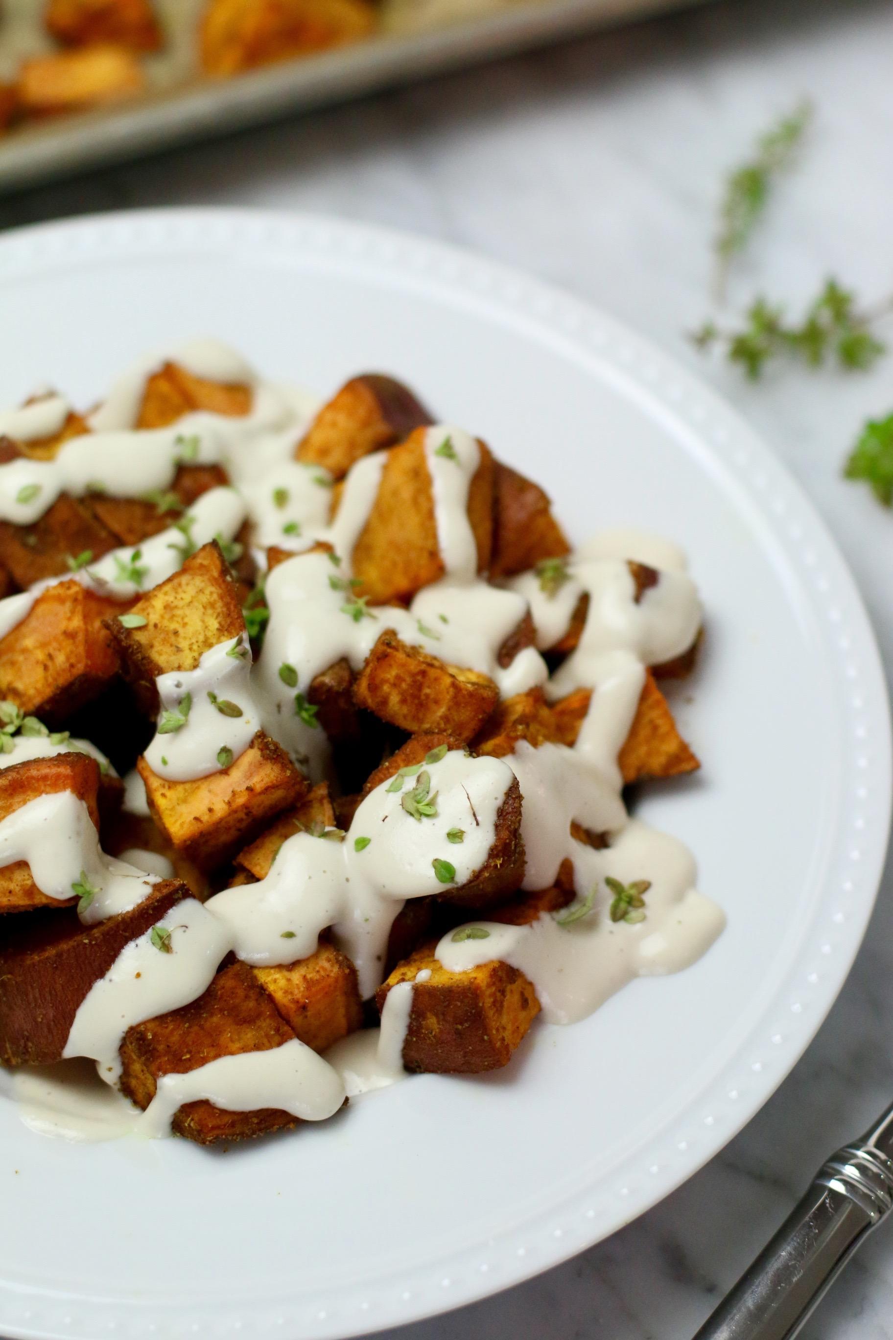 Sweet Potato + Coconut Cashew Cream Sauce