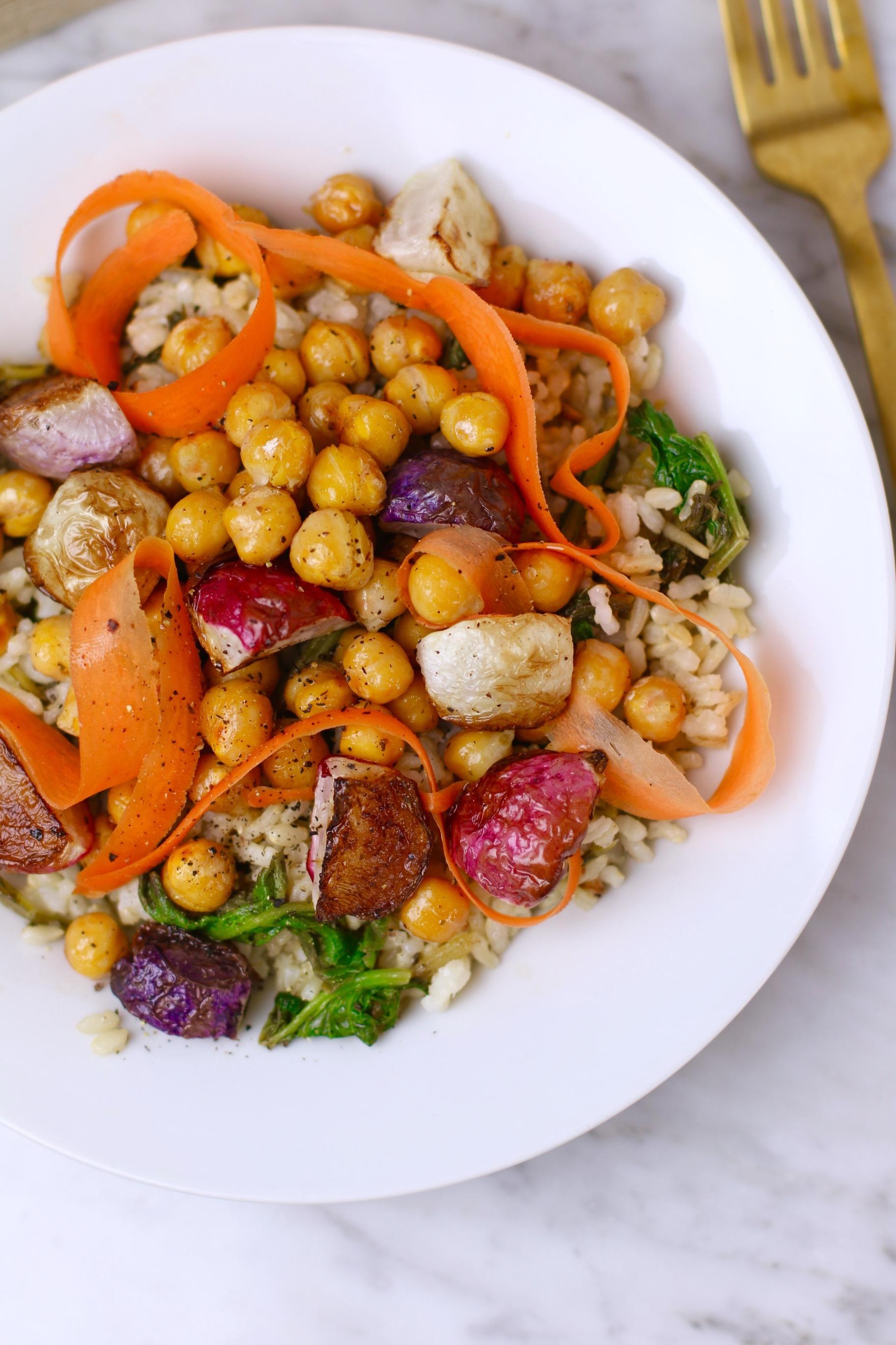 roasted-radish-and-radish-greens-salad