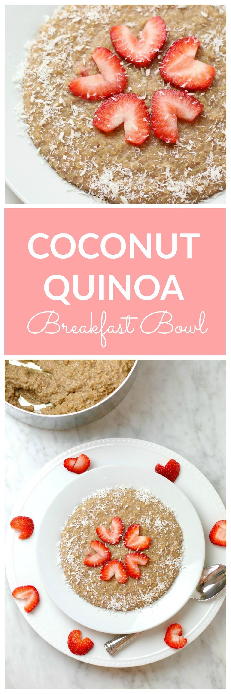 Coconut Quinoa Breakfast Bowl PIN
