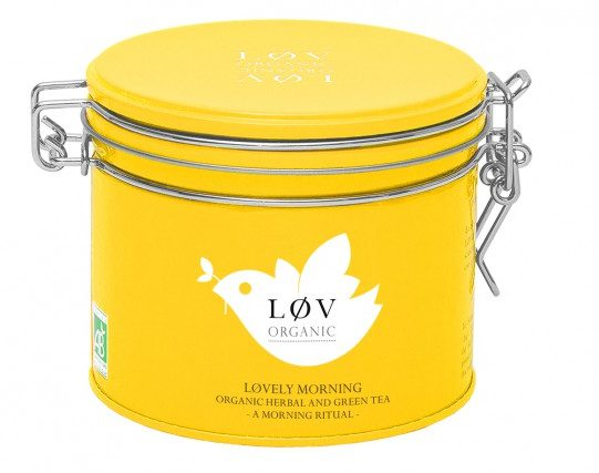 lov organic lovely morning tea tin