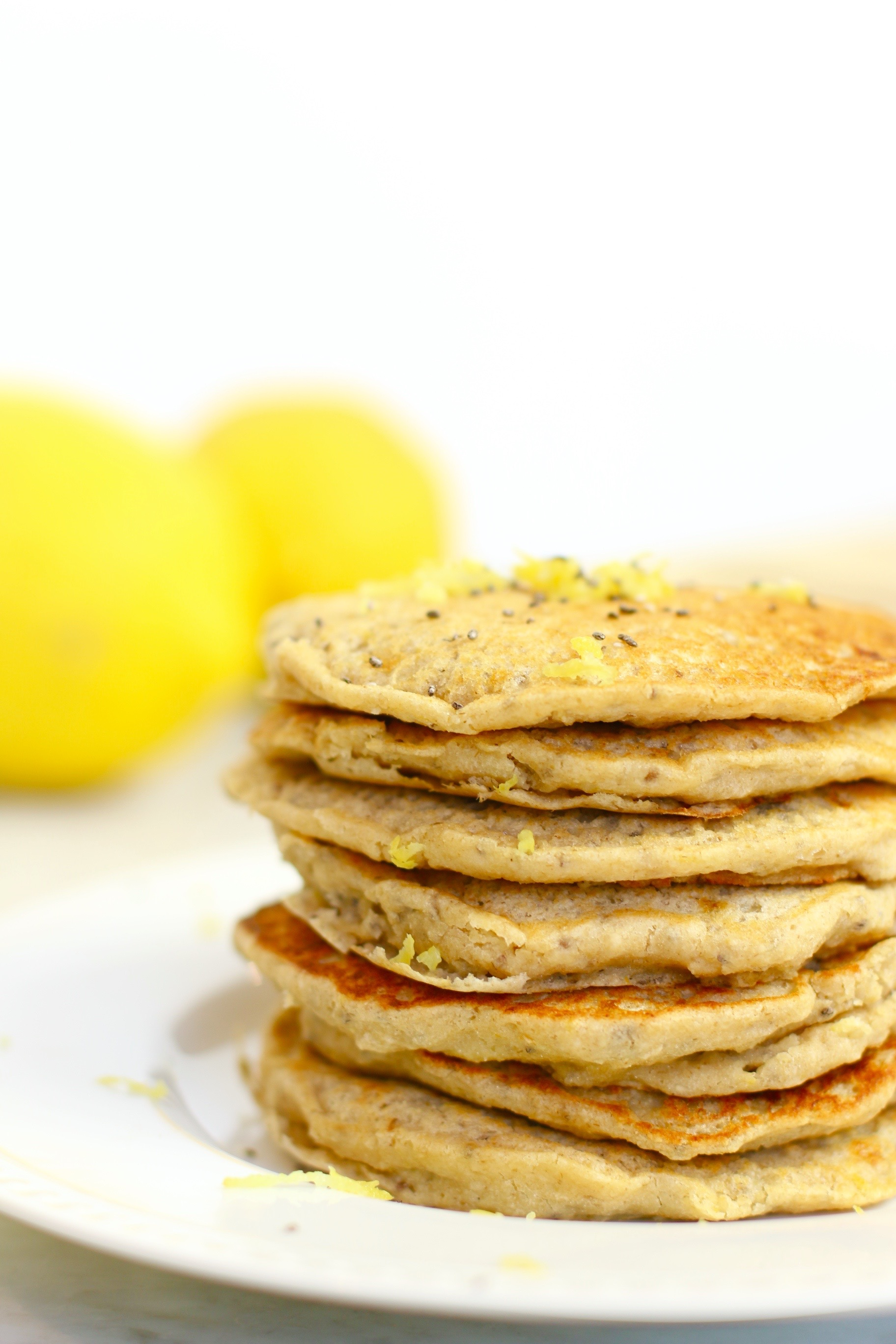 Chia Seed Lemon Pancakes