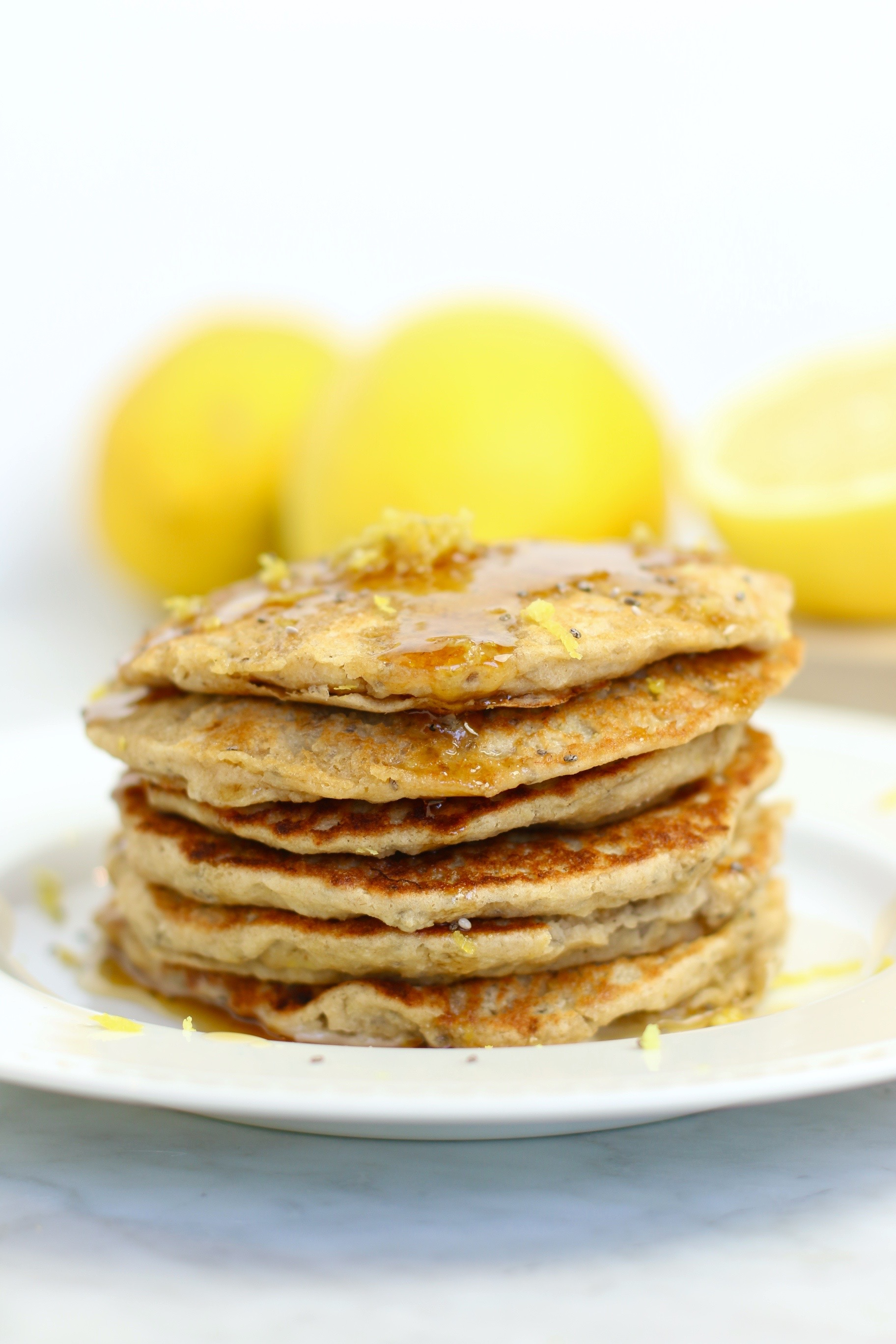 Chia Seed Lemon Pancakes - gluten-free and vegan