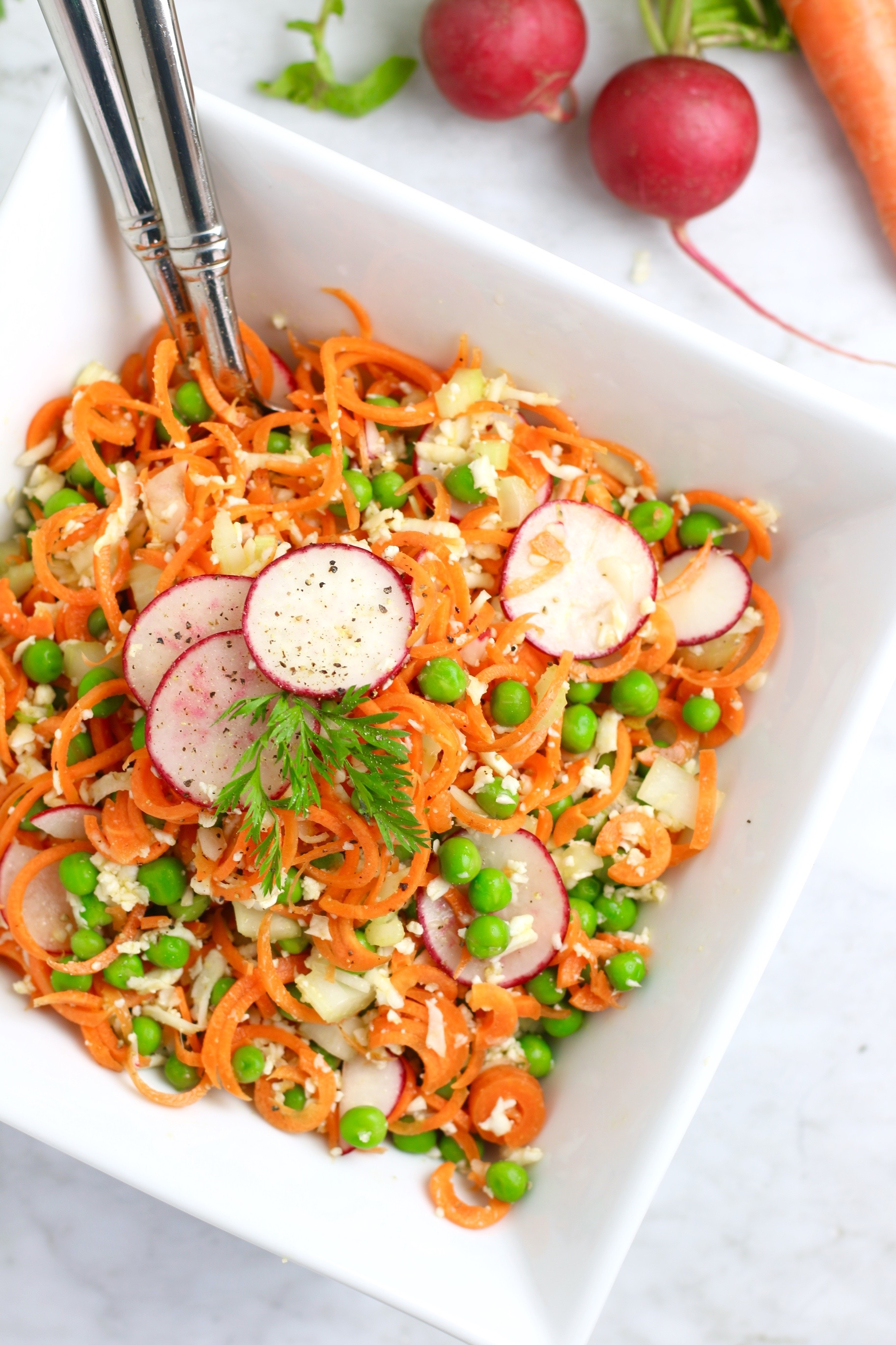 Confetti Pea and Carrot Salad