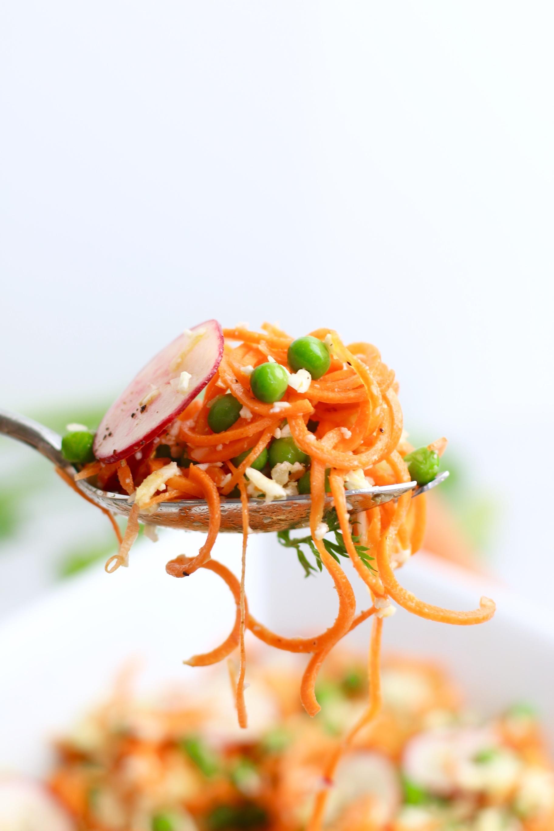 Vegan Pea and Carrot Salad
