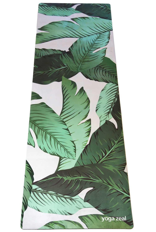 yoga zeal banana leaf mat