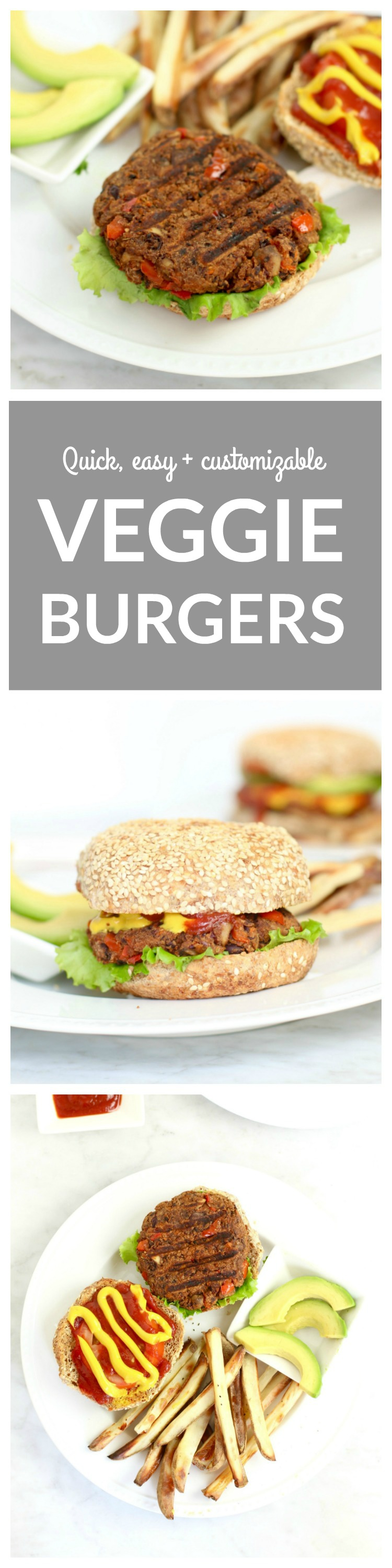 Quick, easy and customizable Veggie Burger