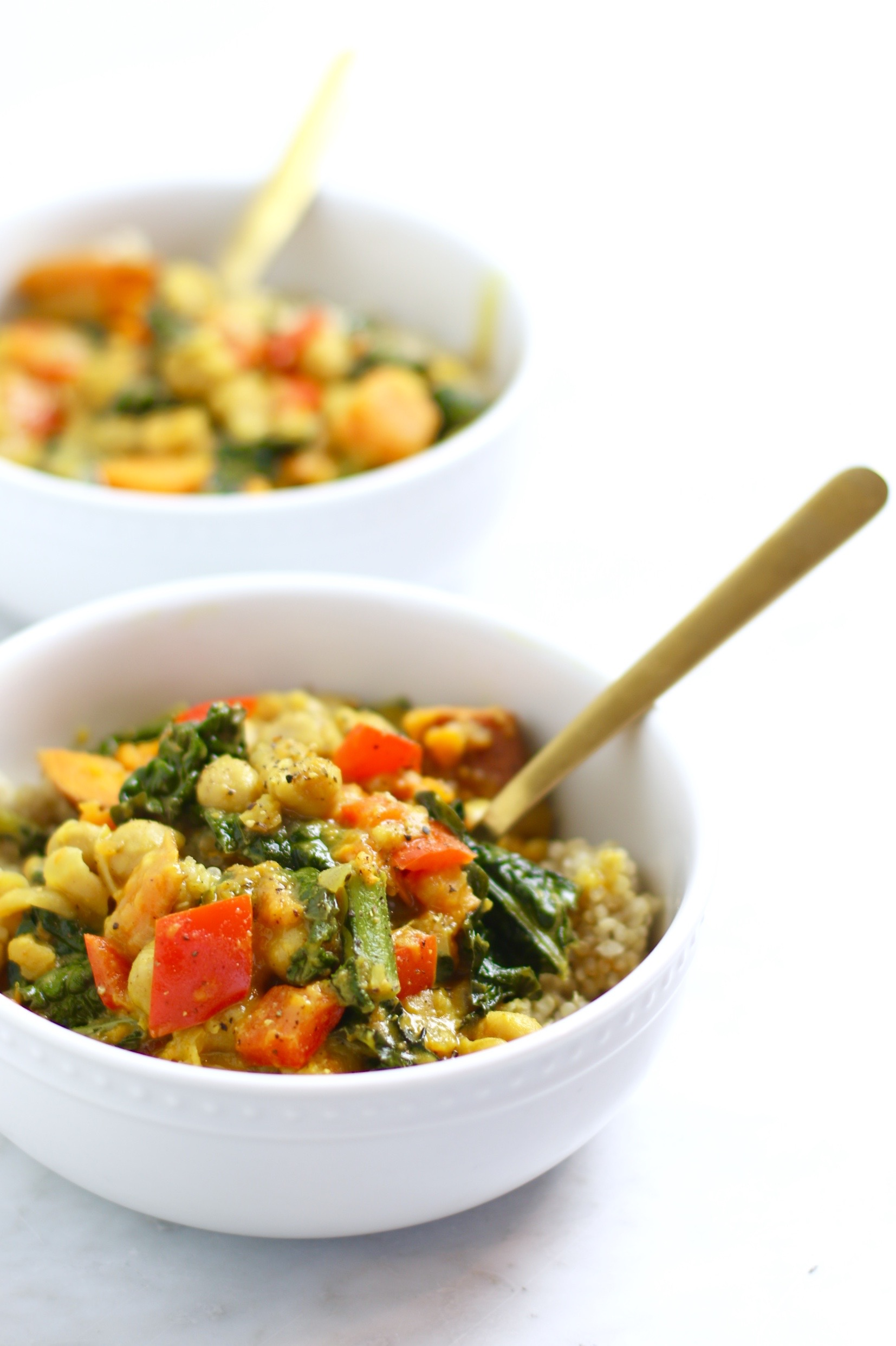 Easy Chickpea Coconut Curry Recipe - vegan, gluten-free