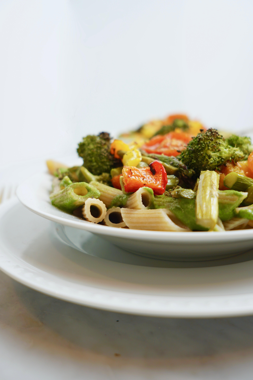 Vegan Pesto Pasta Primavera