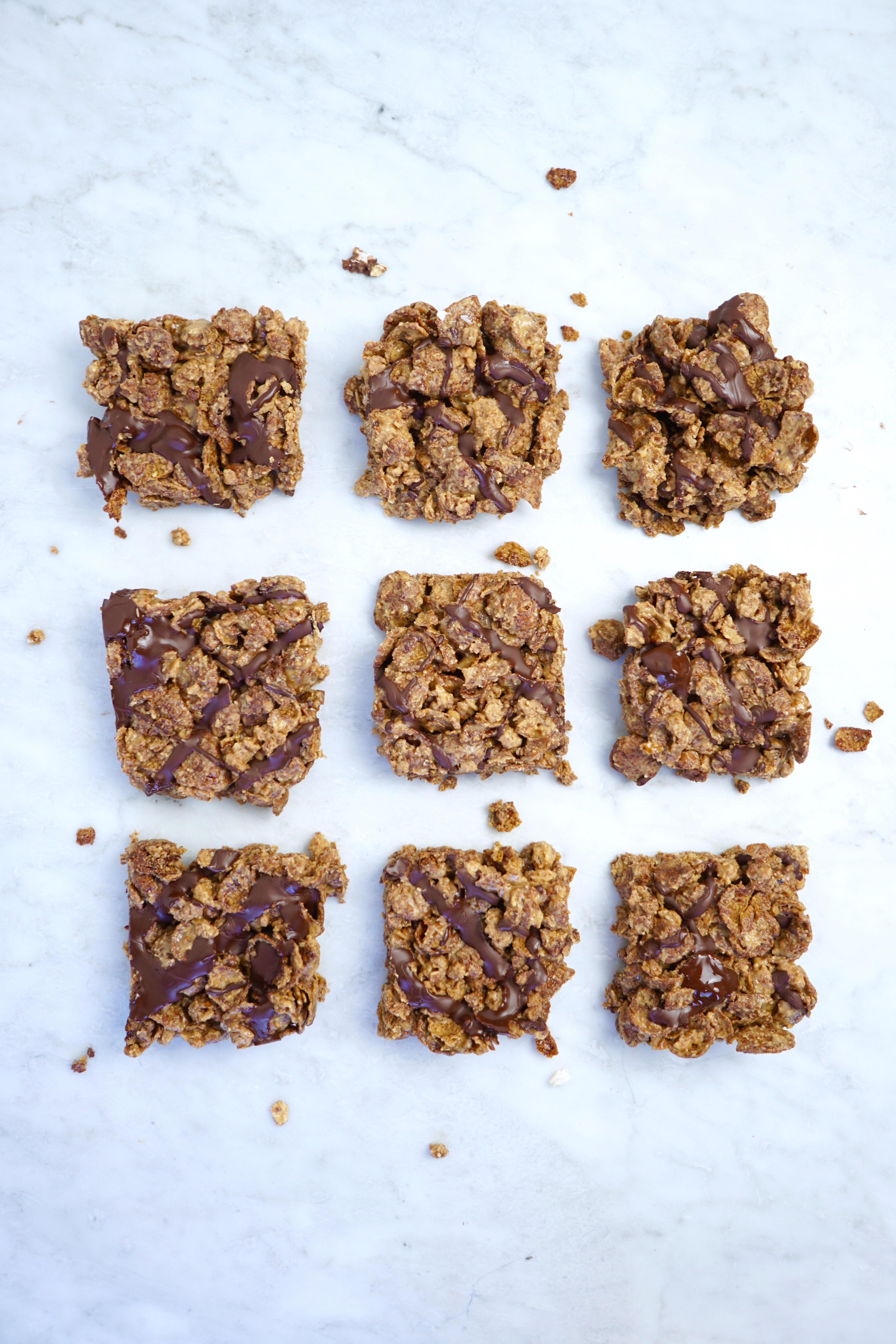 3-Ingredient Peanut Butter Chocolate Cereal Bars - Whitney ...