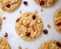 Vegan Gluten-Free White Chocolate Cranberry Christmas Cookies