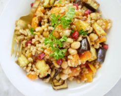 Warm Butternut Squash + Farro Salad