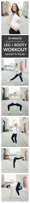 10-Minute Tone It Up Leg + Booty Workout. Pregnancy-Friendly