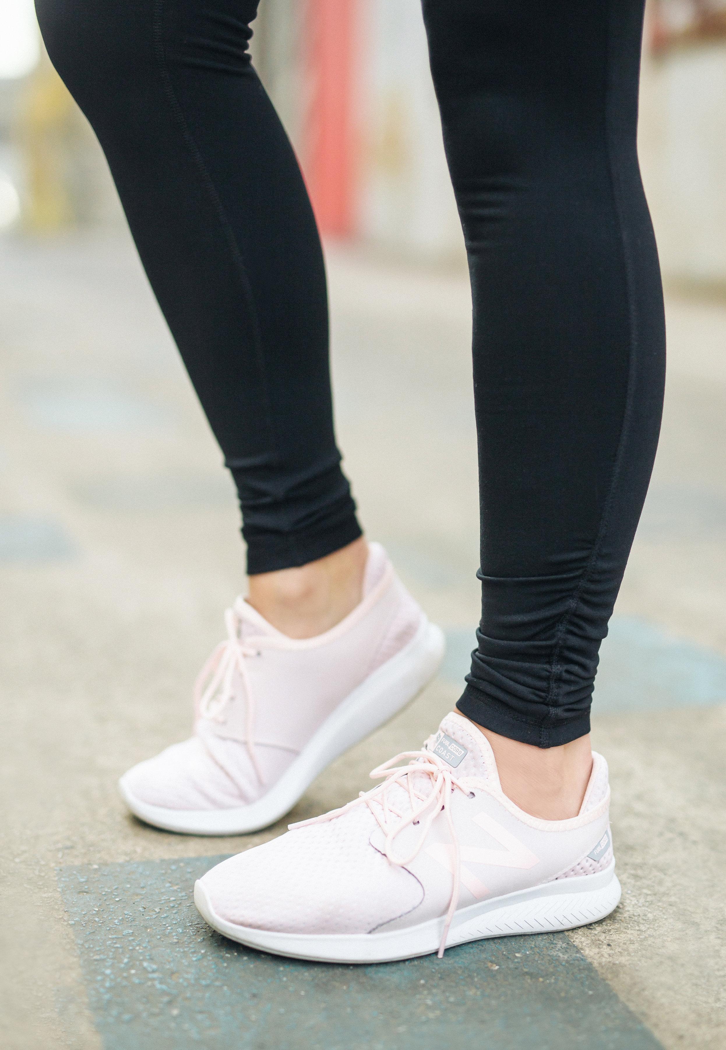 new balance blush pink sneakers