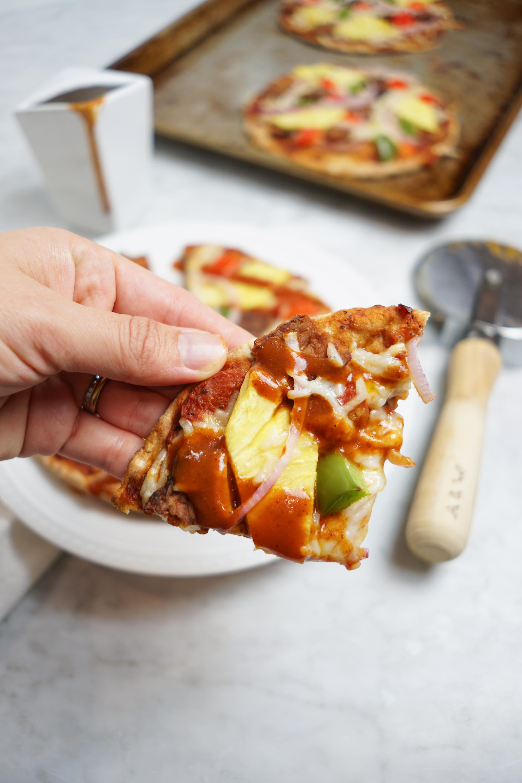 vegan Hawaiian pizza