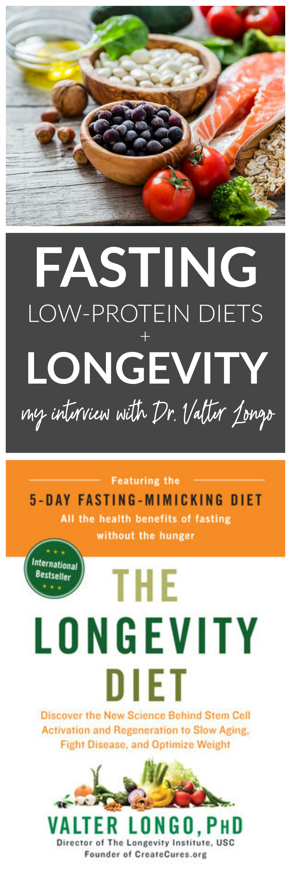 Valter Longo on Fasting, Low-Protein Diets, and Longevity - Whitney E. RD