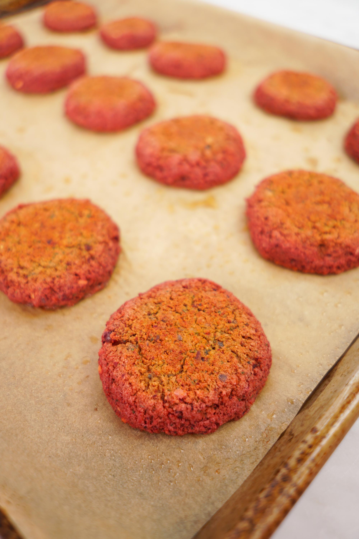 Baked Beet Falafels