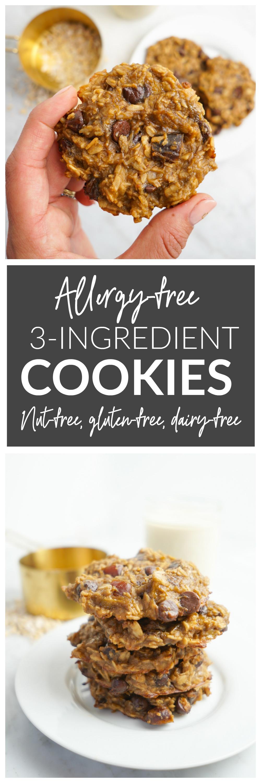 3-Ingredient Cookies - Allergy-Free