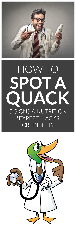 How to Spot A Quack Nutritionist: 5