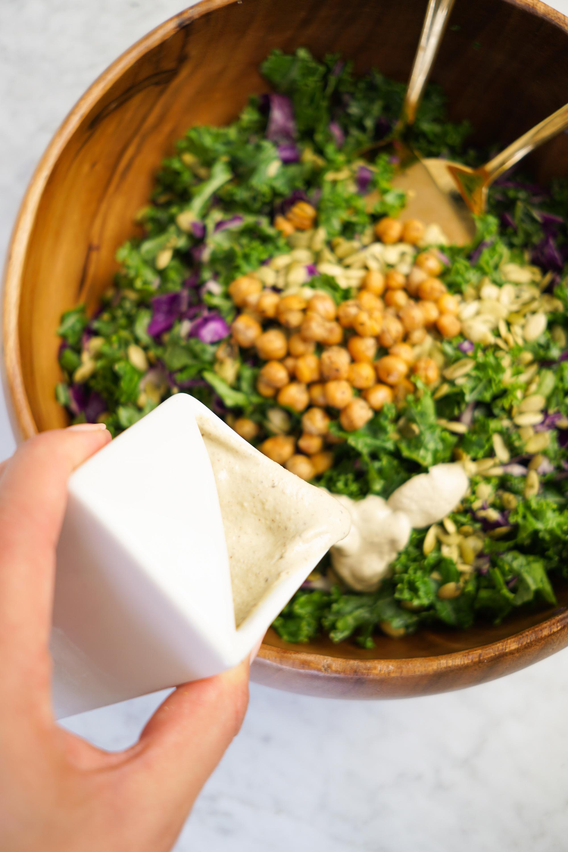 dairy free kale caesar salad dressing