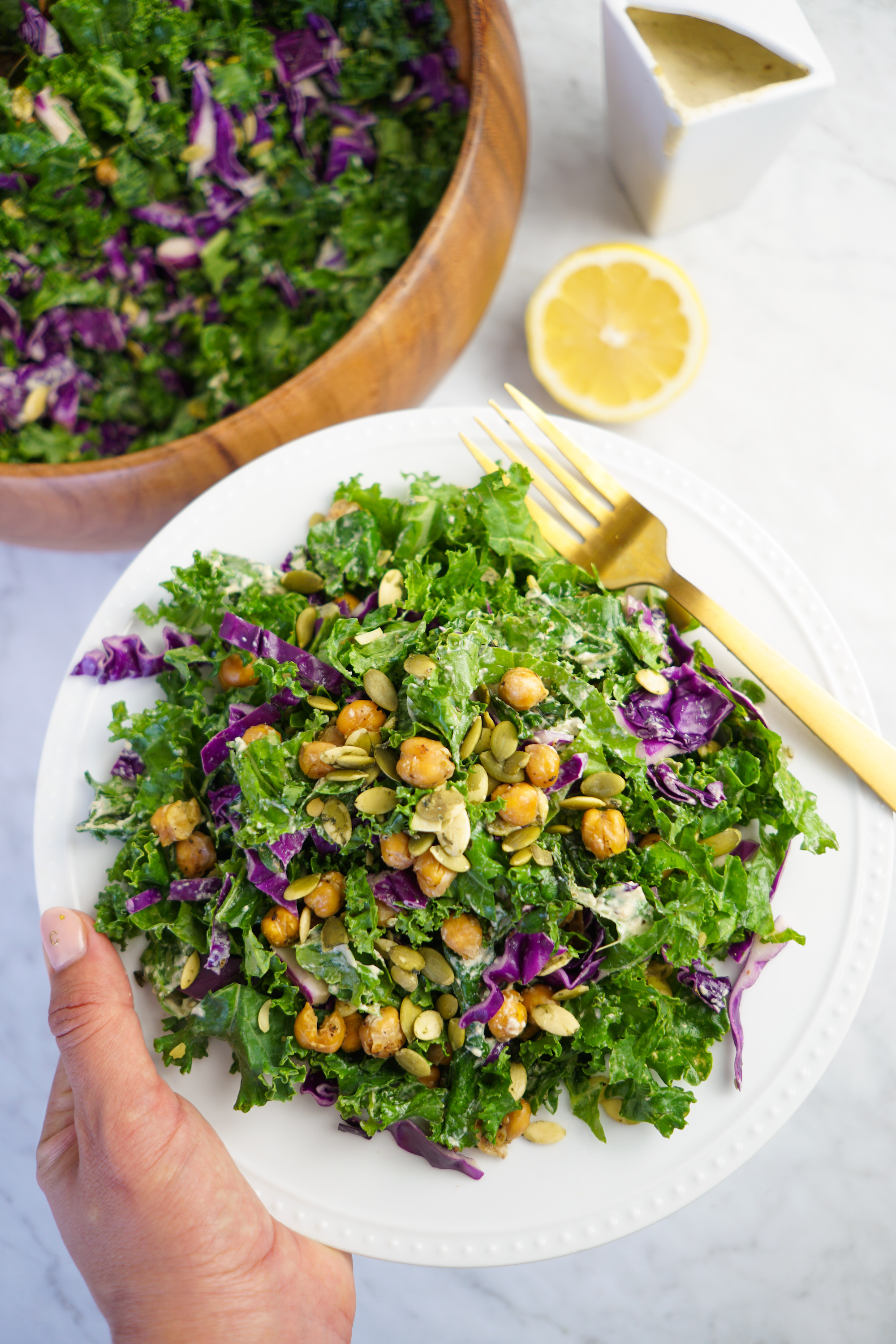 vegan kale caesar recipe