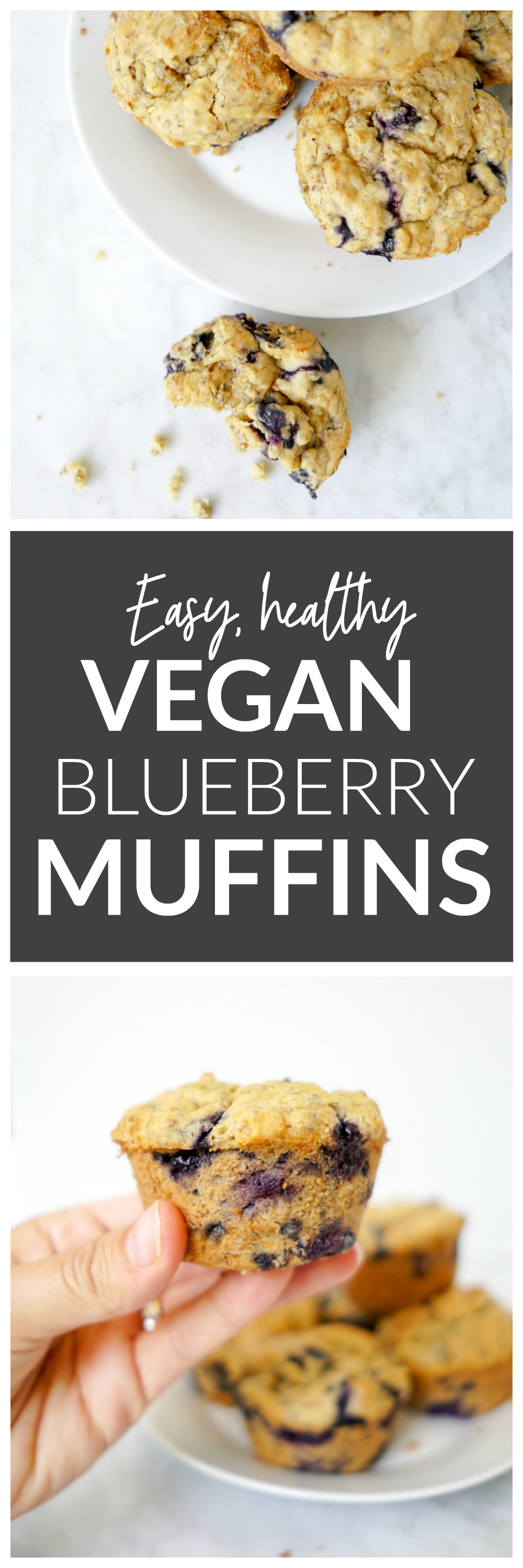 Easy, healthy Vegan Blueberry Muffins Recipe