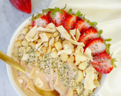 orange juice smoothie bowl