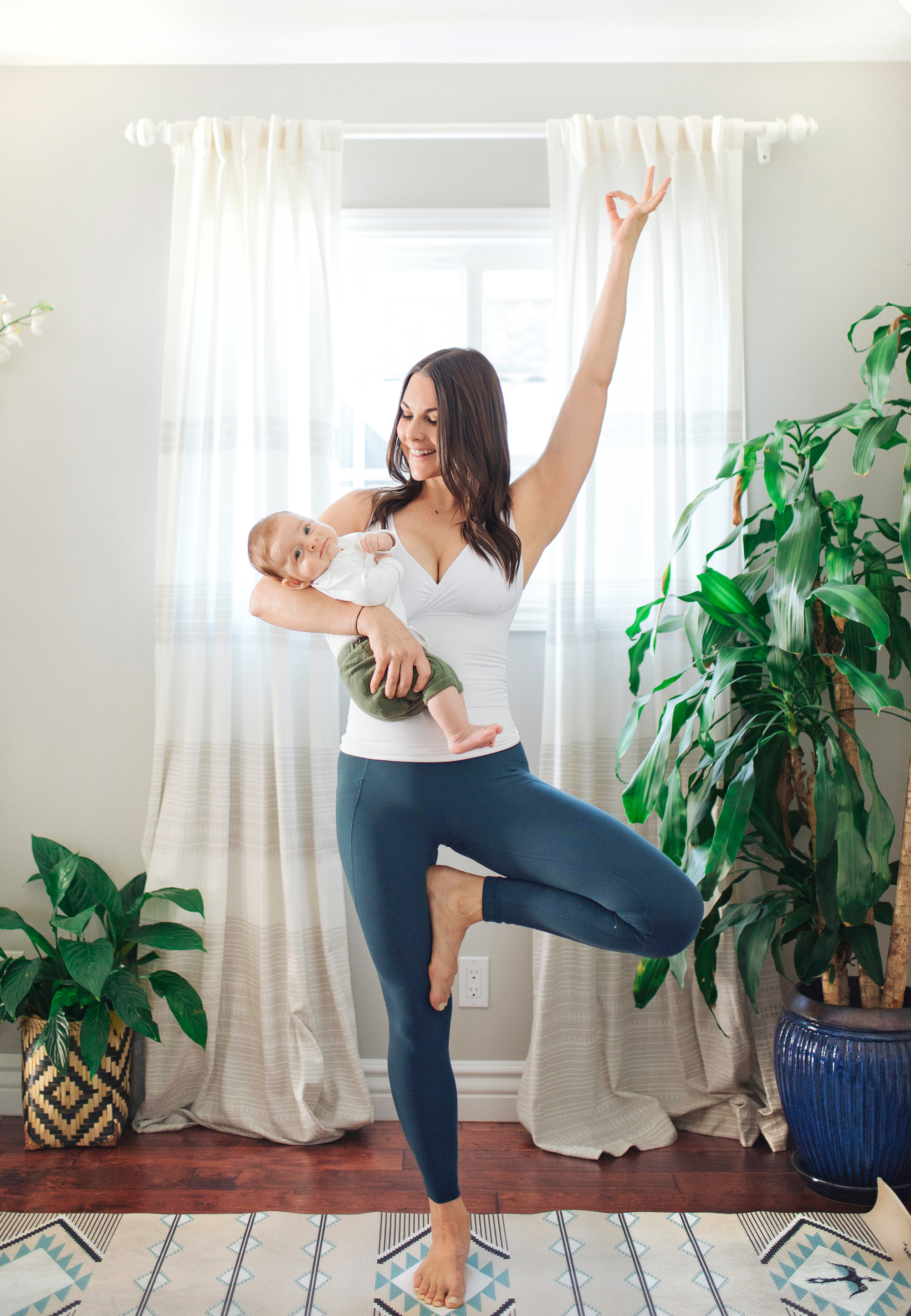 Tree Pose with Infant