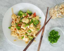 thai peanut tofu noodles recipe