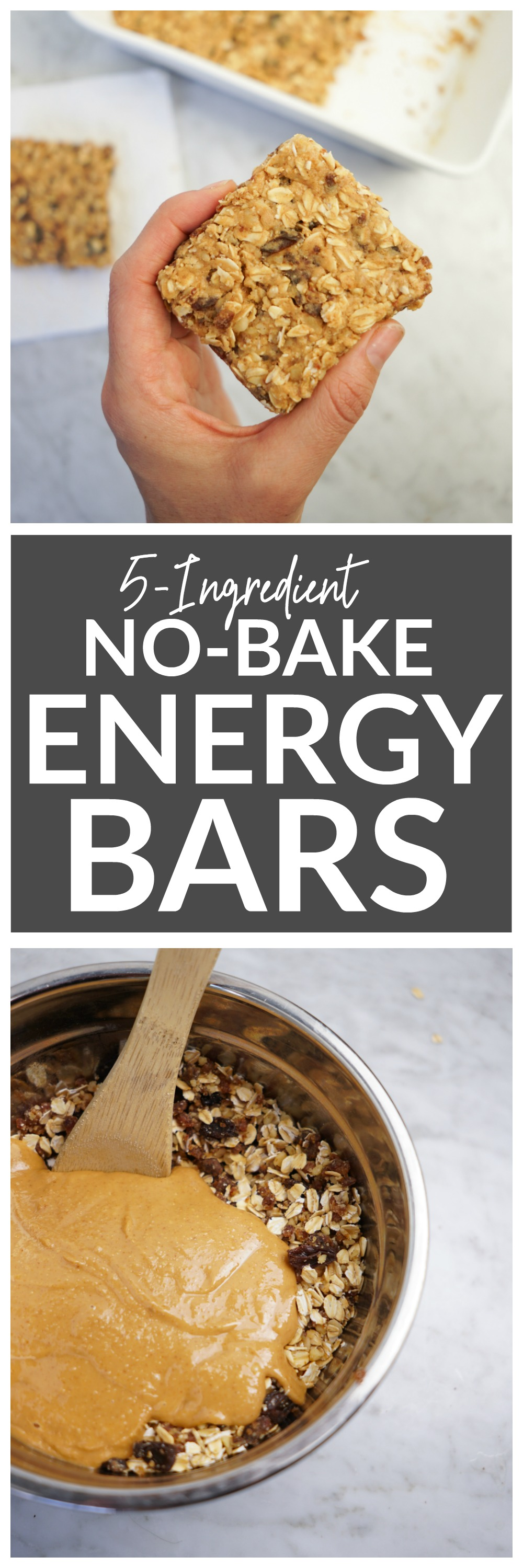 5-Ingredient No-Bake Energy Bars