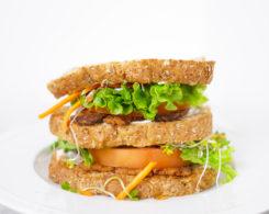 TLT tempeh sandwich