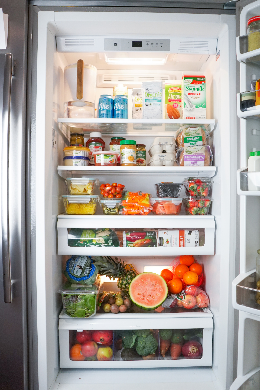plant based grcoery haul - healthy refrigerator restock