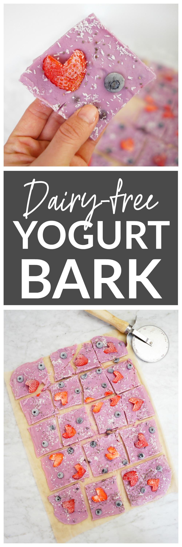 Yogurt Bark - vegan, dairy-free