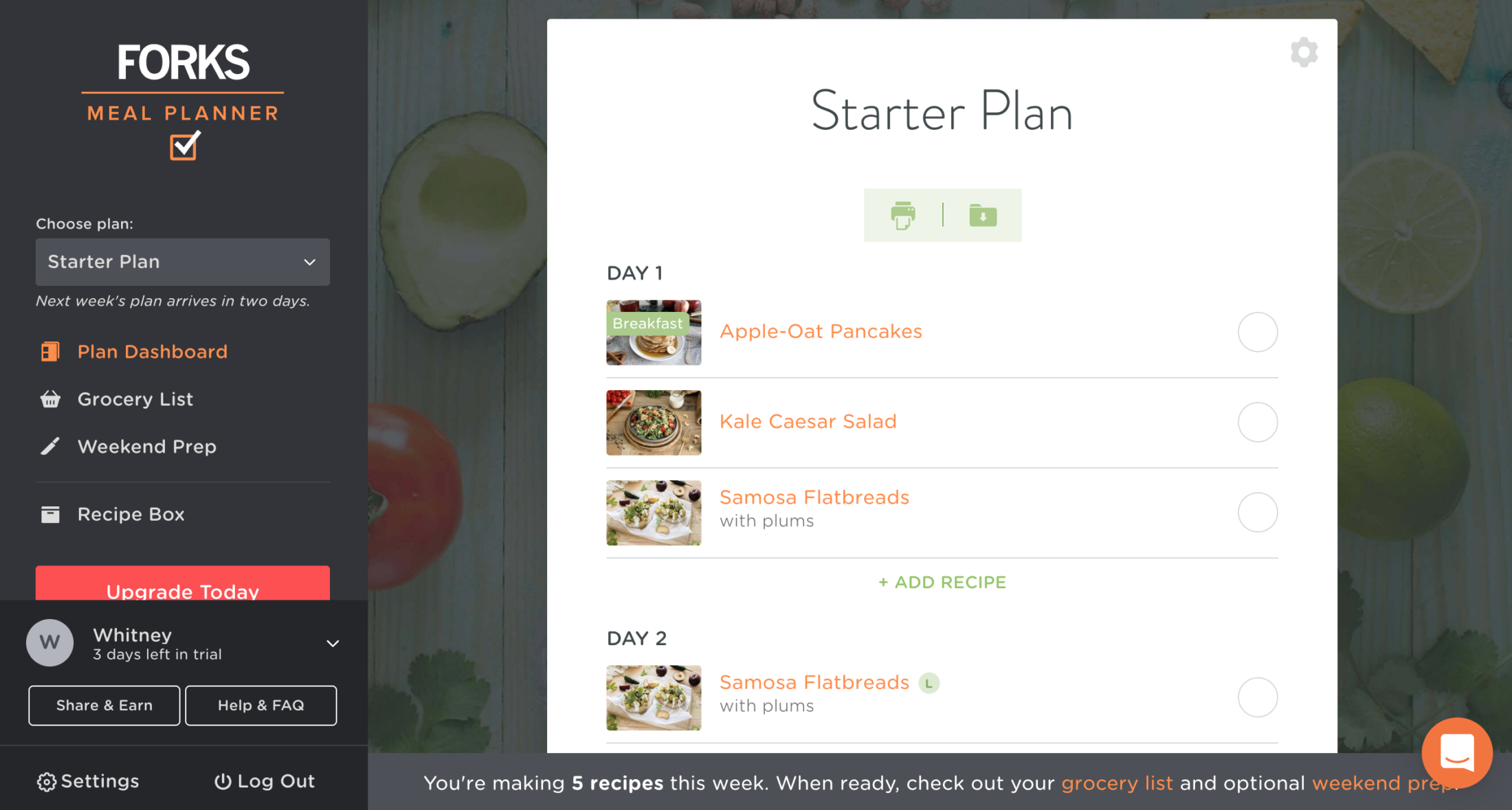 Forks Over Knives Meal Planner Recipes