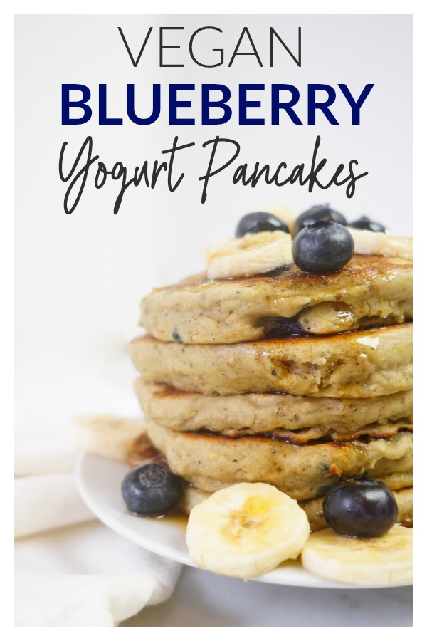 vegan blueberry yogurt pancakes