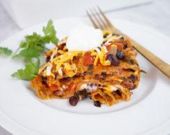 vegan tortilla casserole square