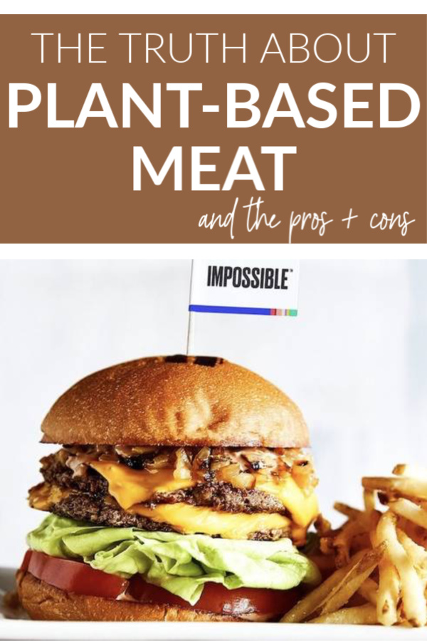 plant-based meat pin