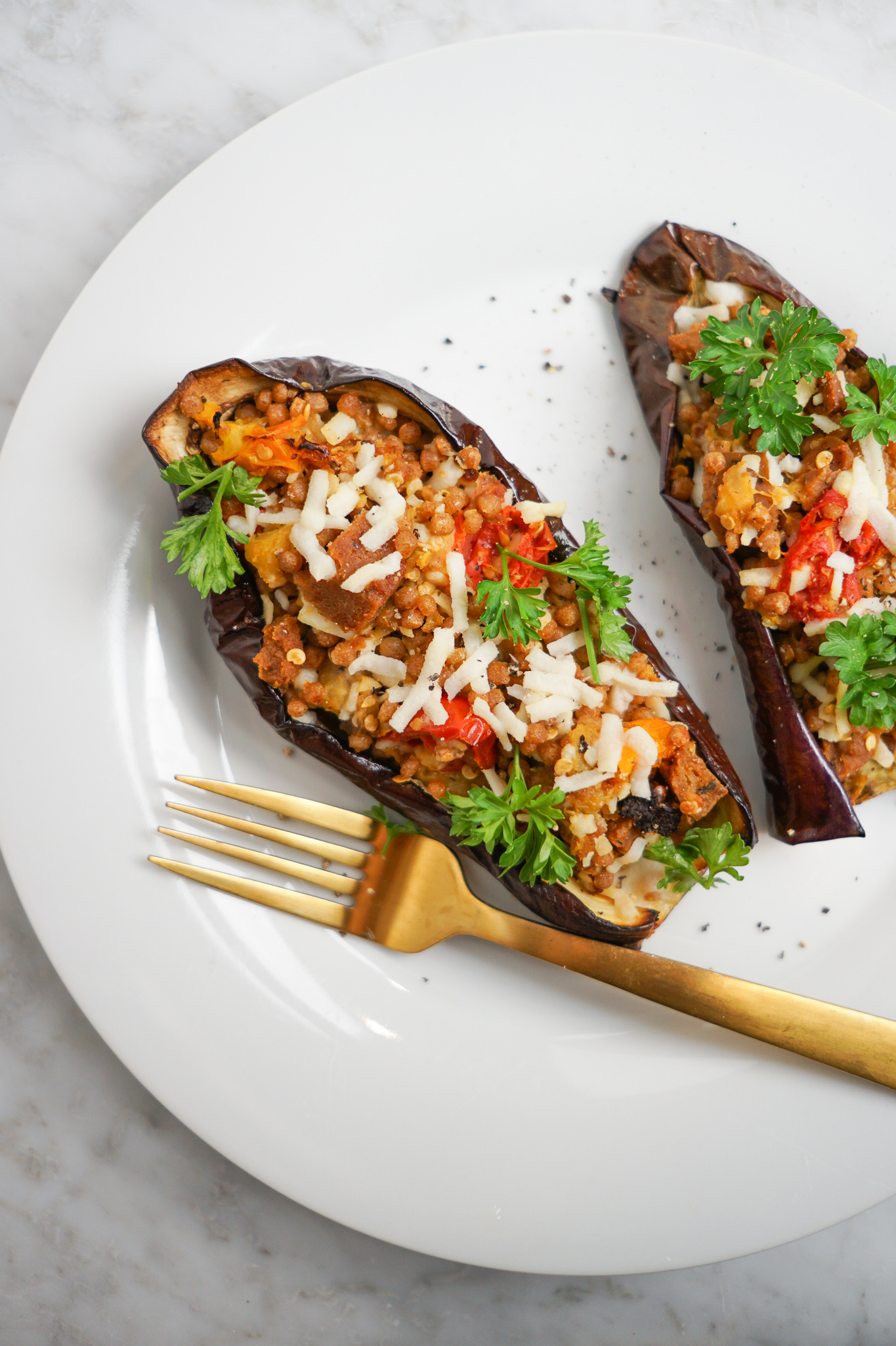eggplant boat with cheese