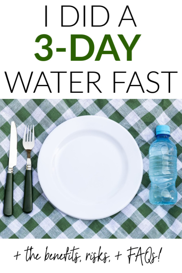 water fasting pin
