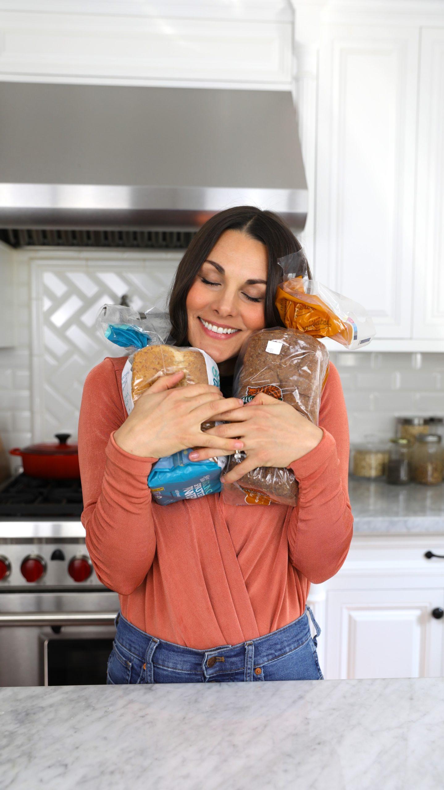 hugging bread