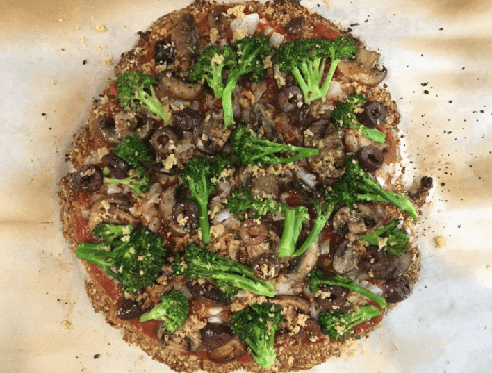 plant-based ketogenic pizza