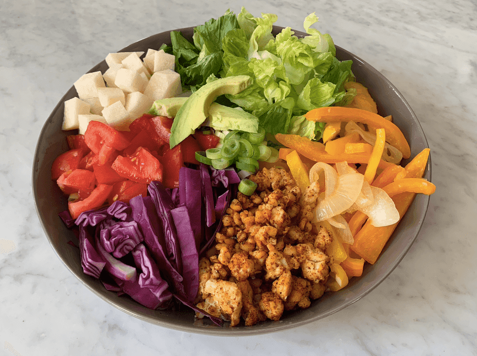 plant-based ketogenic bowl