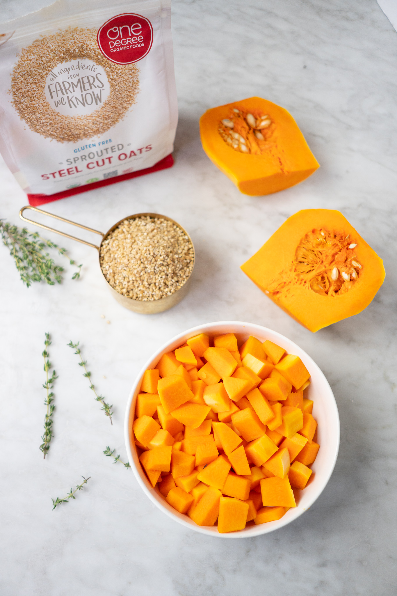 butternut squash and steel cut oats