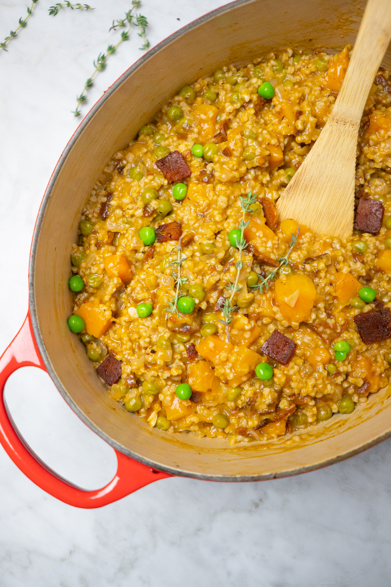 vegan oat risotto