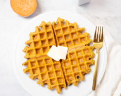 vegan gluten-free sweet potato waffles